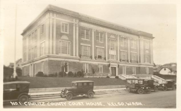 Kelso Courthouse - built 1923 - www.courthousehistory.com